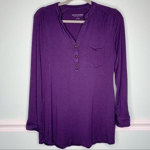 Soft Surroundings Sonora Tab Sleeve Tunic Top Sml